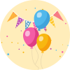 Helium Balloon Birthday Decorations