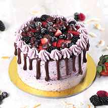 Delicious Chocolate Berry Cake Half Kg: Cake Delivery in Bahrain