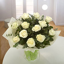 White Roses Bouquet BH: Send Gifts to Bahrain