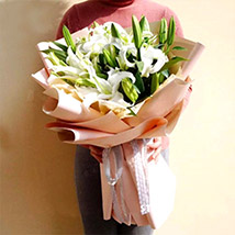 White Lily Love: Send Flowers To China
