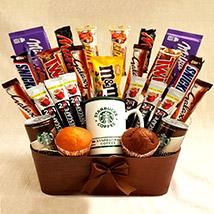 Coffee and Cupcakes Chocolaty Basket: Send Gifts to Jordan
