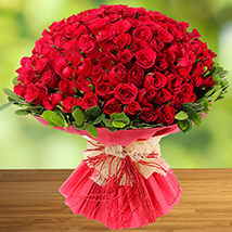 100 Red Roses: Anniversary Flower Bouquets