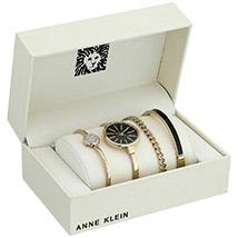 4 Piece Ladies Set Anne Klein Black Color: Accessories