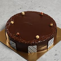 500gm Eggless Hazelnut Choco Cake: Eggless Birthday Cakes