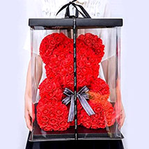 Artificial Red Roses Teddy: Promise Day Gifts