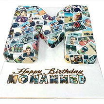 Birthday Cake with Picture: Personalised Gifts for him