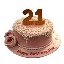 Charm of flowers Cake: Premium Cakes