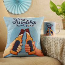 Cheers Friendship Day Cushion & Mug: Friendship Day Gift Ideas 2020