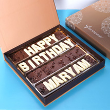 Customized Happy Birthday Chocolate: Personalized Gifts Same Day Delivery