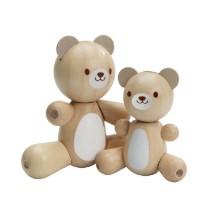 Cute Wooden Bear and Little Bear: