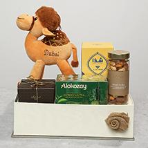 Dates Tea and Camel Stuff Toy Gift Set: Bateel Dates