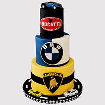 Designer Car Themed Cake: Car Cakes