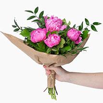 Elegant Pink Peonies Bouquet: