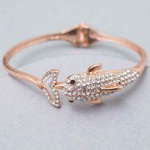 Fish Design Stone Studded Bracelet: Jewellery