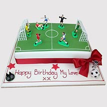 Football Pitch Cake: Football Cake