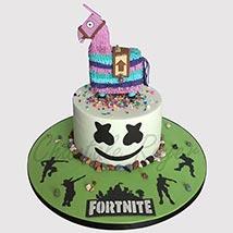 Fortnite Unircorn Fondant Cake: Fortnite Birthday Cakes