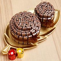 Golden Tray Of Belgian Chocolate Sticks: Diwali Chocolate