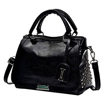 Graceful Black Shoulder Bag: Accessories