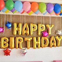 Happy Birthday Colourful Balloon Decor: Experiential Gifts