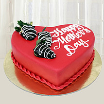 Happy Mothers Day Heart Cake 1 Kg: Happy Mothers Day Cake