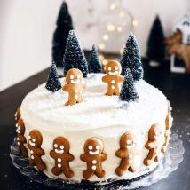Jolly Christmas Gingerman Cake: Happy New Year Cake 2021