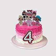 Lol Surpirse Dolls Fondant Cake: LOL Cakes