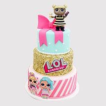 Lol Surprise 3 Layered Cake: LOL Surprise Cakes