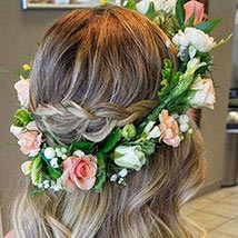 Look Beautiful Tiara: Flower Jewellery