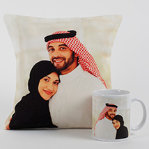 Lovable Personalized Cushion N Mug:
