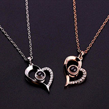 Love Projection Heart Necklace: Accessories