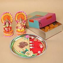 Motichoor Laddoo & Pooja Thali Combo: Deepavali Sweets