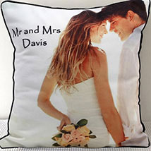 Mr N Mrs Personalized Cushion: Personalised Gifts for Wife