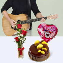 Musical I Love You: Flowers and Guitarist Service