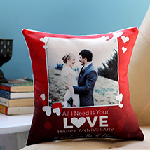 Personalised Anniversary Love Cushion: