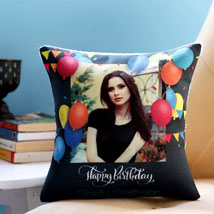Personalised Birthday Balloons Cushion: Birthday Gifts for Brother