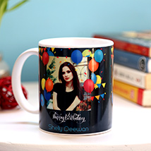 Personalised Birthday Balloons Mug: Personalised Gifts for Brother