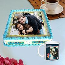 Personalised Birthday Mug And Cake Combo: