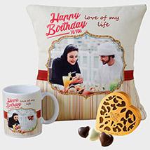 Personalised Cushion Mug and Godiva Chocolates:
