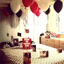 Personalised Helium Balloon Decor: Personalised Anniversary Gifts