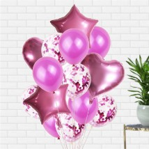 Pink Latex and Foil balloons: Helium Balloons Dubai
