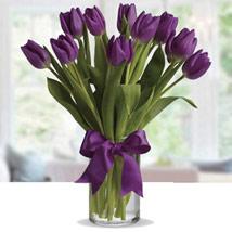 Purple Tulip Arrangement: Thank You Flowers