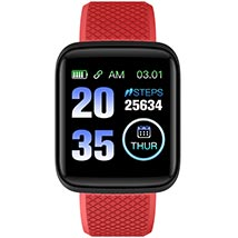 Red N Black Activity Tracker Watch: Accessories