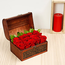 Red Roses Arrangement: Kiss Day Gifts