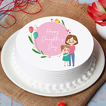 Special Daughters Day Photo Cake: Daughters Day Gifts