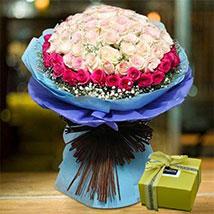 Splendid Roses Bouquet and Patchi Chocolate Combo: Patchi Chocolate Dubai