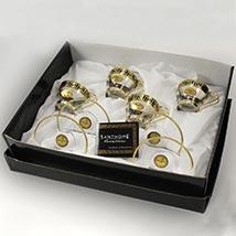 Transparent N Gold Tea Cup Set  4: Kitchen Accessories