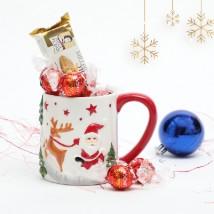 Treats in Embossed Mug: