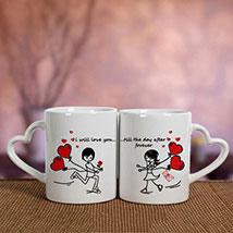 White Love Mugs: