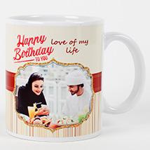 Romantic Birthday Personalized Mug: Birthday Personalised Gifts