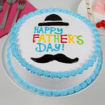 Hat And Moustache Cream Cake: Fathers Day Cakes